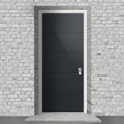 4 Horizontal Lines Antracite Grey Ral 7016 By Fort Security Doors Uk