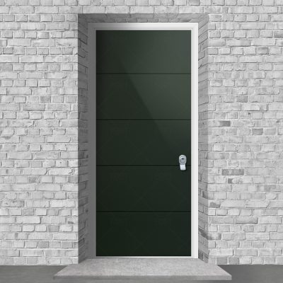 4 Horizontal Lines Fir Green Ral 6009 By Fort Security Doors Uk