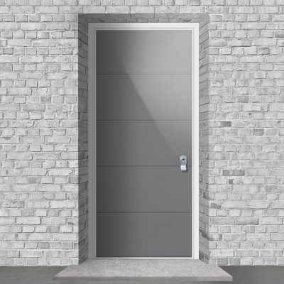 4 Horizontal Lines Signal Grey Ral 7004 By Fort Security Doors Uk