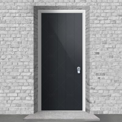 4 Vertical Lines Anthracite Grey Ral 7016 By Fort Security Doors Uk