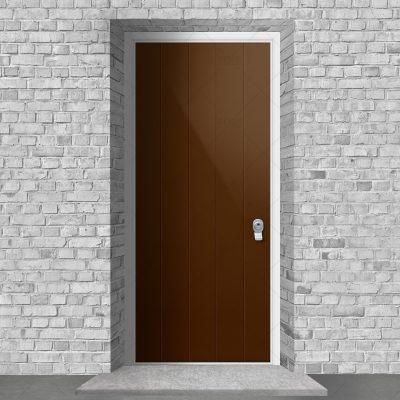 4 Vertical Lines Clay Brown Ral 8003 By Fort Security Doors Uk