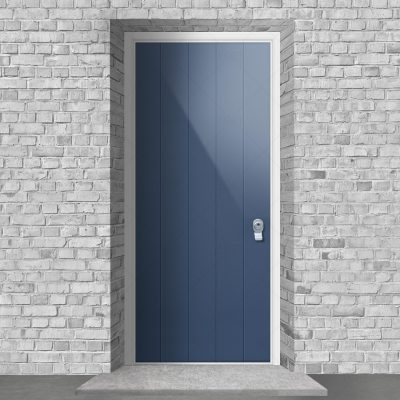 4 Vertical Lines Pigeon Blue Ral 5014 By Fort Security Doors Uk