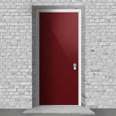 4 Vertical Lines Ruby Red Ral 3003 By Fort Security Doors Uk