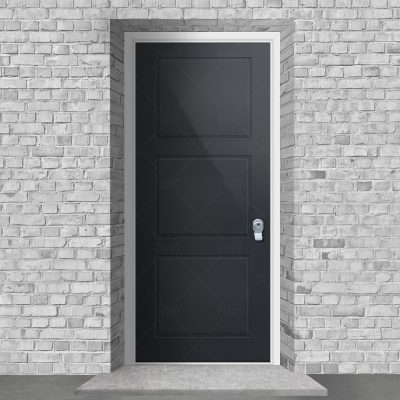 Edwardian 3 Equal Panel Anthracite Grey Ral 7016 By Fort Security Doors Uk