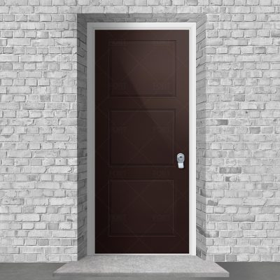 Edwardian 3 Equal Panel Chocolate Brown Ral 8017 By Fort Security Doors Uk
