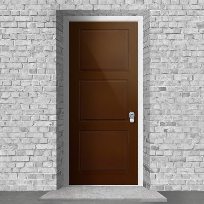Edwardian 3 Equal Panel Clay Brown Ral 8003 By Fort Security Doors Uk