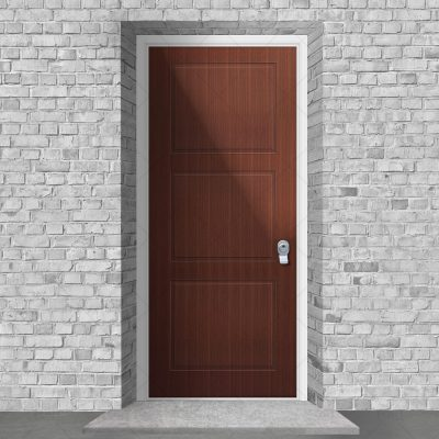 Edwardian 3 Equal Panel Mahogany By Fort Security Doors Uk