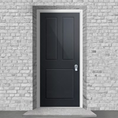 Edwardian 3 Panel Anthracite Grey Ral 7016 By Fort Security Doors Uk