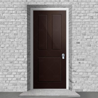 Edwardian 3 Panel Chocolate Brown Ral 8017 By Fort Security Doors Uk