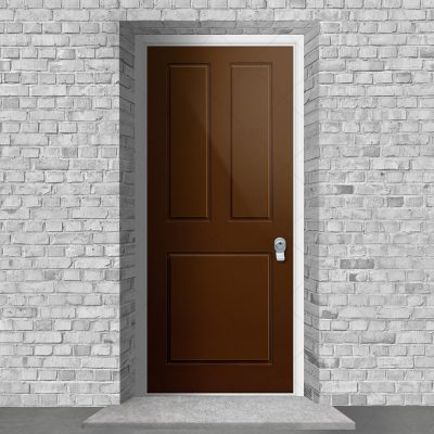 Edwardian 3 Panel Clay Brown Ral 8003 By Fort Security Doors Uk