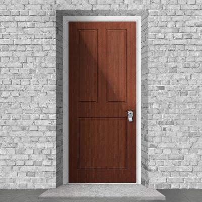 Edwardian 3 Panel Mahogany By Fort Security Doors Uk