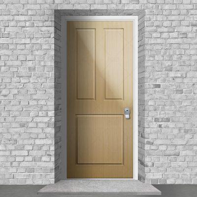 Edwardian 3 Panel Oak By Fort Security Doors Uk