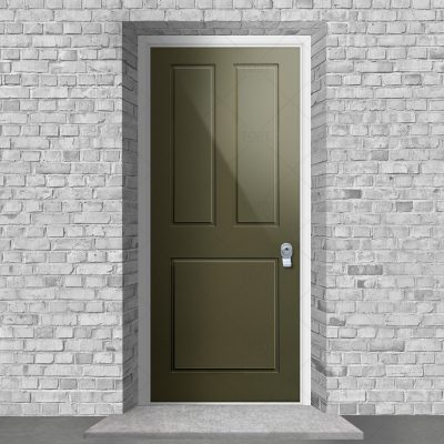 Edwardian 3 Panel Reed Green Ral 6013 By Fort Security Doors Uk