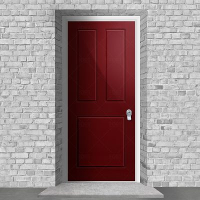 Edwardian 3 Panel Ruby Red Ral 3003 By Fort Security Doors Uk