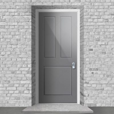 Edwardian 3 Panel Signal Grey Ral 7004 By Fort Security Doors Uk