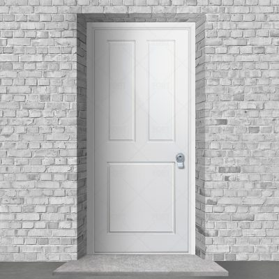 Edwardian 3 Panel Traffic White Ral 9016 By Fort Security Doors Uk