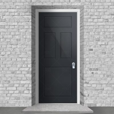 Edwardian 4 Panel Anthracite Grey Ral 7016 By Fort Security Doors Uk
