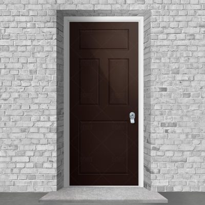 Edwardian 4 Panel Chocolate Brown Ral 8017 By Fort Security Doors Uk