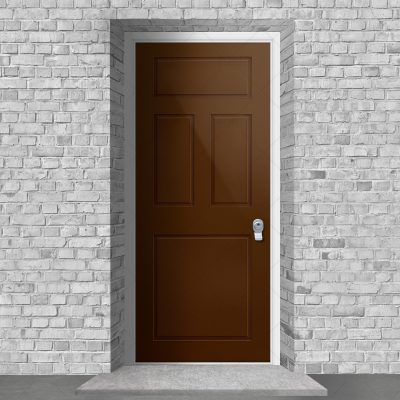 Edwardian 4 Panel Clay Brown Ral 8003 By Fort Security Doors Uk