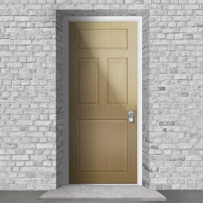 Edwardian 4 Panel Oak By Fort Security Doors Uk