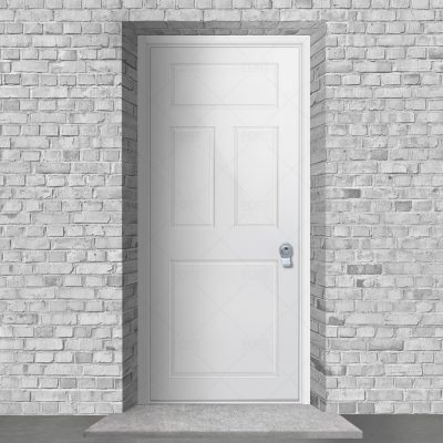 Edwardian 4 Panel Traffic White Ral 9016 By Fort Security Doors Uk