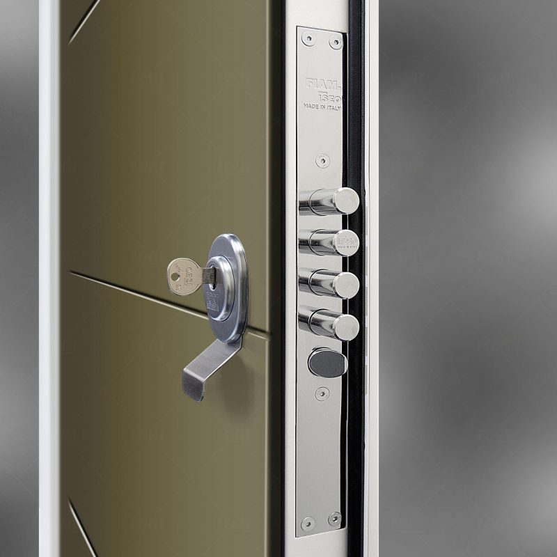 Lock System In Reed Green Ral 6013 By Fort Security Doors Uk