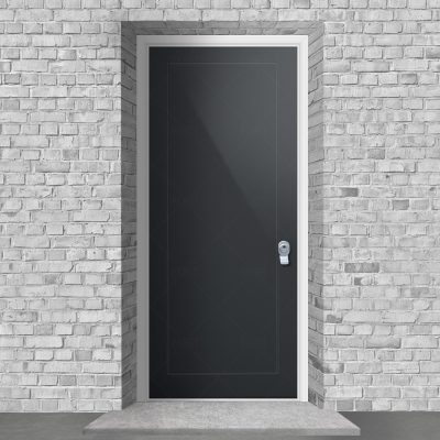One Panel Anthracite Grey Ral 7016 By Fort Security Doors Uk