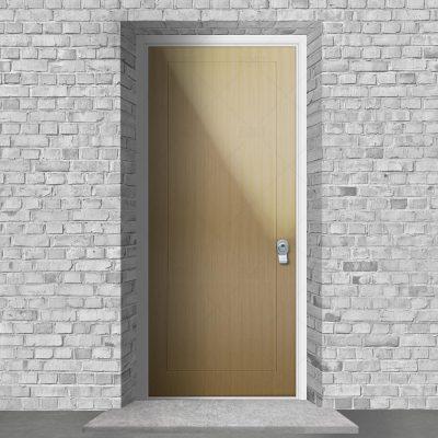 One Panel Birch By Fort Security Doors Uk