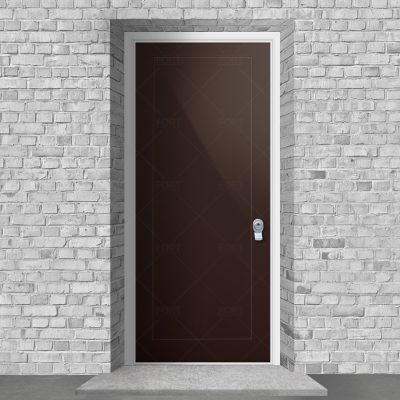 One Panel Chocolate Brown Ral 8017 By Fort Security Doors Uk