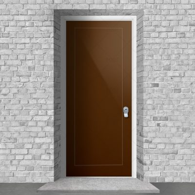 One Panel Clay Brown Ral 8003 By Fort Security Doors Uk