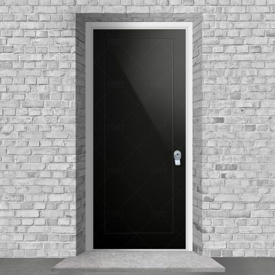 One Panel Jet Black Ral 9005 By Fort Security Doors Uk