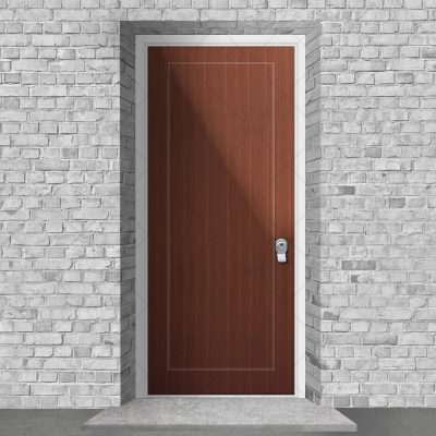 One Panel Mahogany By Fort Security Doors Uk