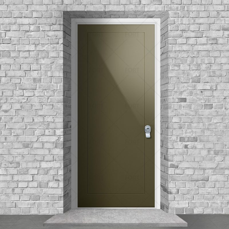 One Panel Reed Green Ral 6013 By Fort Security Doors Uk