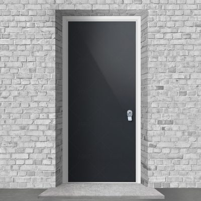 Plain Antracite Grey Ral 7016 By Fort Security Doors Uk