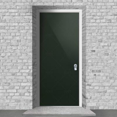 Plain Fir Green Ral 6009 By Fort Security Doors Uk