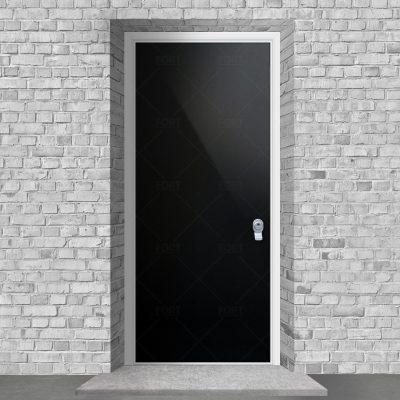 Plain Jet Black Ral 9005 By Fort Security Doors Uk