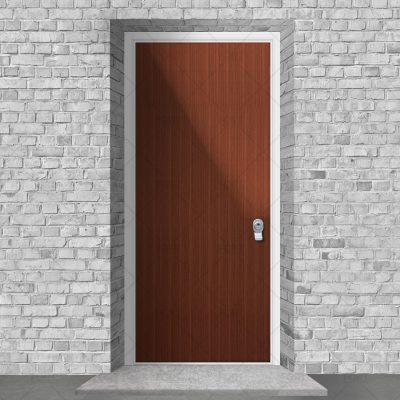 Plain Mahogany By Fort Security Doors Uk