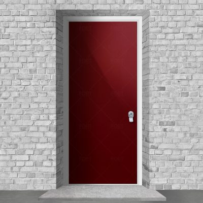 Plain Ruby Red Ral 3003 By Fort Security Doors Uk