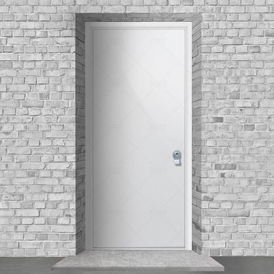 Plain Traffic White Ral 9016 By Fort Security Doors Uk