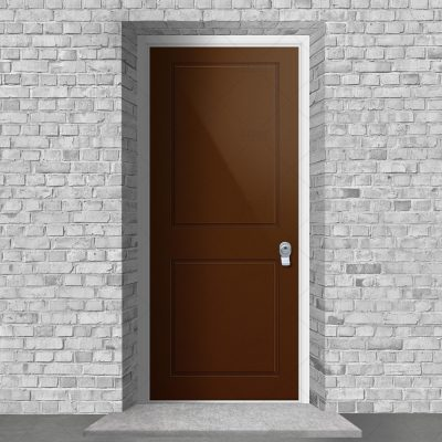 Two Panel Clay Brown Ral 8003 By Fort Security Doors Uk