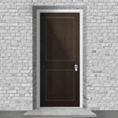 Two Panel Dark Oak By Fort Security Doors Uk