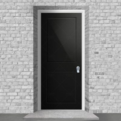 Two Panel Jet Black Ral 9005 By Fort Security Doors Uk