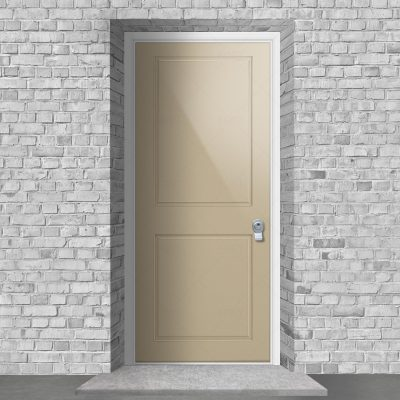 Two Panel Light Ivory Ral 1015 By Fort Security Doors Uk