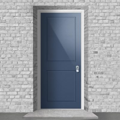 Two Panel Pigeon Blue Ral 5014 By Fort Security Doors Uk
