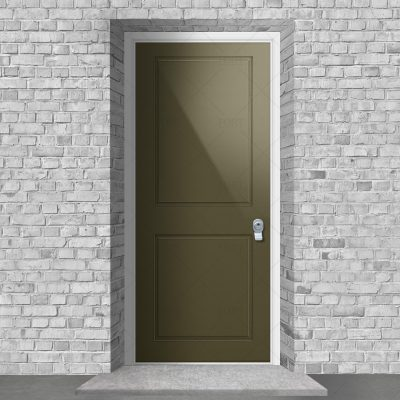 Two Panel Reed Green Ral 6013 By Fort Security Doors Uk