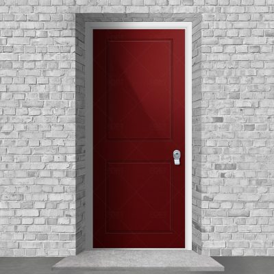 Two Panel Ruby Red Ral 3003 By Fort Security Doors Uk