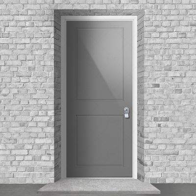 Two Panel Signal Grey Ral 7004 By Fort Security Doors Uk