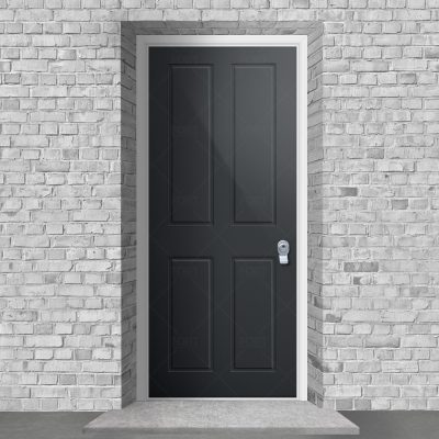 Victorian 4 Panel Anthracite Grey Ral 7016 By Fort Security Doors Uk