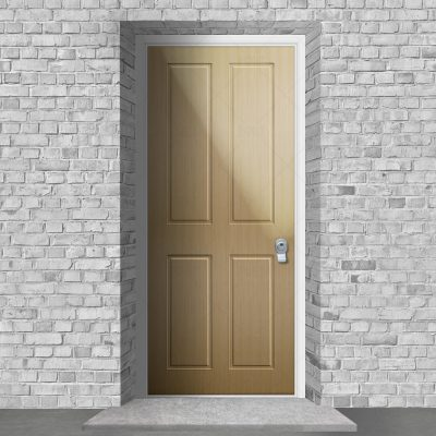 Victorian 4 Panel Birch By Fort Security Doors Uk