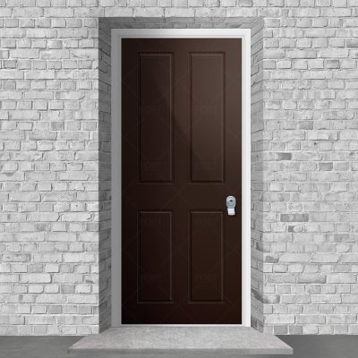 Victorian 4 Panel Chocolate Brown Ral 8017 By Fort Security Doors Uk